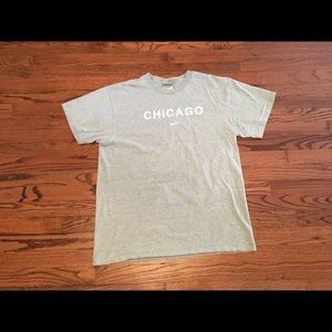 Vintage 90s/00s Nike Chicago Tee Grey Size X-Large